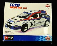 Burago Ford Focus WRC Rally 2001 Metal Model Kit Italy 1:24 Scale Die Cast NEW