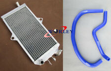 For SUZUKI Quadracer 250 LT250R 1985-1992 Aluminum Radiator & Silicone hose BLUE