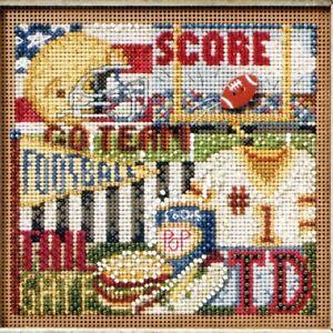 Football Hero Cross Stitch Kit Mill Hill 2011 Buttons & Beads Autumn