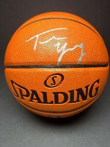 Trae Young signed Spaulding Basketball 76ers BAS E40769