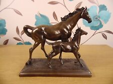 Horse Mother Foal Figurine Ornament Shelf Display Signed Rosa 1997