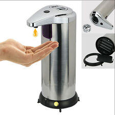 New 1PC Stainless Steel Automatic Induction Soap Dispenser Hand Silver Fashion