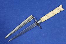 Antique European romantic dagger with quadrangular blade (sword) - France19th