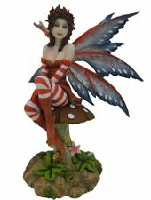 More details for amy brown fairy resting on toadstool figurine fantasy mythical sculpture gift