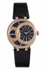 RSW Women's 6025.PP.L1.1.00 Wonderland Round Rose Gold PVD Black Dial watch