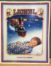 Lionel Train Metal EmbossedSign 1992 Children Boy Model Railroad Toy Dream