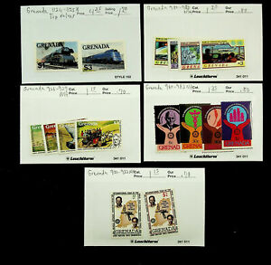 GRENADA ROWLAND HILL ROTARY INT'L RAILWAY 16v MINT STAMPS