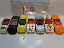 HOT WHEELS LOT OF 7 LOOSE CORVETTE CONVERTIBLES WORLD CUP USA 1988 MALAYSIA BASE