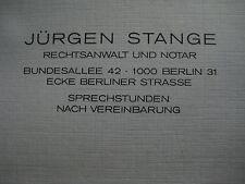 Brief Jürgen Stange Häftlingsfreikauf Berliner Mauer Menschenhandel MfS Stasi