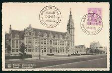 Mayfairstamps Belgium 1950 UNESCO Siminare Brussels Hoogeschool Postcard wwp7316
