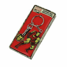 MARVEL COMICS IRON MAN TROLLEY TOKEN & METAL KEYRING RETRO AVENGERS *OFFICIAL*
