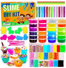 Diy Slime Kit-Ultimate Glow in The Dark Glitter Slime Making Kit- Slime Kit for