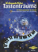 Klavier Noten : Weihnachtliche Tastenträume - 45 Weihnachtslieder  leicht - leMi