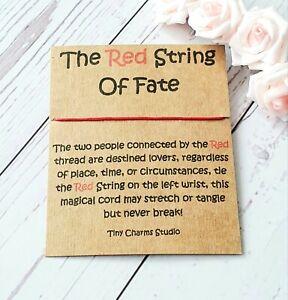 Red String Of Fate Bracelet Kabbalah Thread Evil Eye Good Luck Protection Gift