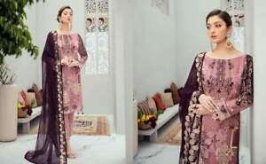 Ladies Stitched Shalwar Kameez 3 piece suit Gift for her embroidery work