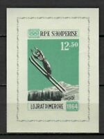 27141) ALBANIA 1963 MNH** Nuovi** Winter Olympic G. s/s Imperforated