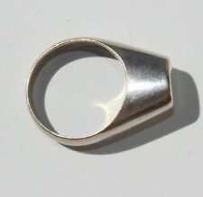 Mid Century Modern Modernist Abstract Sterling Silver Ring