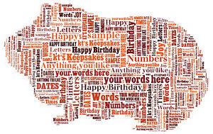 word art personalised gift present keepsake in memory guinea pig