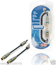 5M,HQ 100Hz TV FREEVIEW RF DIGITAL COAXIAL CABLE,MALE PLUG TO FEMALE SOCKET LEAD