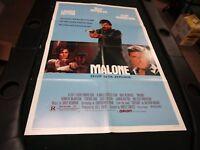 One Sheet Movie Poster Malone 1987 Burt Reynolds Kenneth McMillan Cythia Gibb