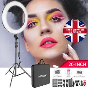 """Neewer 20"""" inch LED Ring Light Kit for Makeup YouTube Video Selfie BLACK UK"""