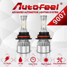 9007 HB5 200W 20000LM Car LED Headlight Conversion Kit Bulbs High Low Beam 6000K