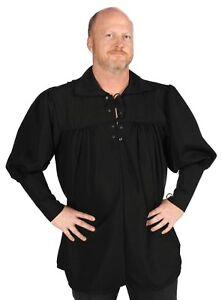 Swordsman RENAISSANCE Pirate Gothic POET Medieval Shirt Black M L XL