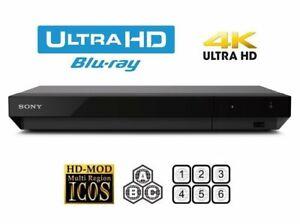 SONY UBP-X500 4K Ultra HD 3D Blu-ray & DVD Player Multiregion DVD & Bluray
