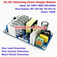 AC-DC Converter AC 110V 220V to 5V 12V Switching Power Supply Board Dual Output