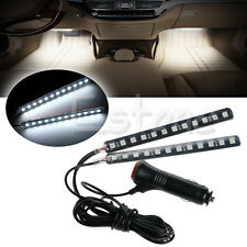New White 2X12 LED Car Interior Footwell Floor Decor Atmosphere Light Neon Strip