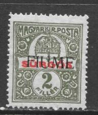 FIUME 1918 HUNGARY OCCUP IMPERF OVERPRINT MI # 2 MLH