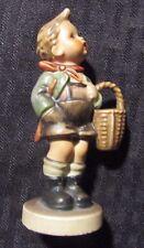 """Vintage Goebel Hummel Figurine 3.75"""" #513 Boy w/ Basket"""