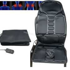 Portable Back Massage Heat Seat Cushion Car Chair Massager Lumbar NeckPad Heater