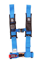 """Pro Armor Seat Belt Safety Harness 4 Point 3"""" Padded RZR Rhino Can Am Blue"""