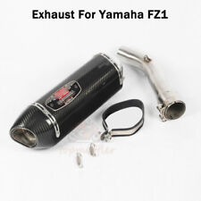 For Yamaha FZ1 Motorcycle Carbon Exhaust Muffler Tail Pipe Connecting Link Tube