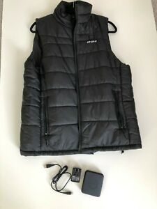 ORORO Mens Heated Vest Battery Size Large Black Sleeveless Winter Outdoor Skiing