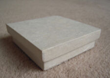 Quality Handmade Ivory Flat Gift Box 3.5 inches square, for Wedding Favours etc