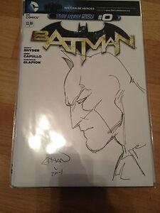 DC Batman #0 Blank Variant Ethan Van Sciver Batman Sketch