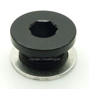 M14x1.5 BLACK METRIC Hex Allen Key BLANKING PLUG BUNG BLOCKER Male Oil Adapter