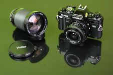 MINOLTA X700 + MINOLTA 135mm Vivitar 28mm Vivitar 28-210mm + 18-28mm * VERY GOOD