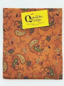 1 Fat Quarter Paisley on Rust Cotton Quilting Fabric Harvest Moon by Henry Glass