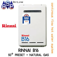 RINNAI B16 BUILDERS CONTINUOUS HWS - NATURAL GAS 50° - B16N50