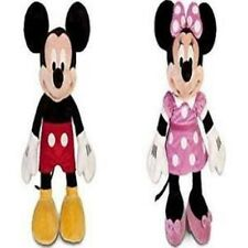 """Disney Mickey Mouse and Minnie Mouse 25"""" Soft Plush Combo-Licensed Product-NEW!"""