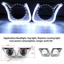 "2x3""12V LED Angel Eyes DRL Integrated Lights Cover Trim Car Headlight/Fog Light"