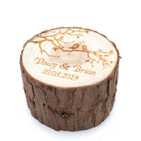 Personalized Wedding Ring Box Love Birds Ring Box Engraved Proposal Ring Holder