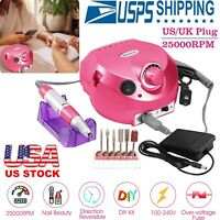 Electric Nail Drill File Grinder Machine Manicure Pedicure Professional Bits Kit