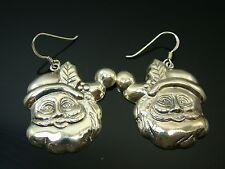 Sterling Silver Santa Claus Earrings
