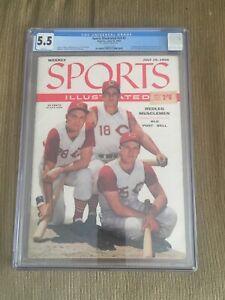 "1956 Sports Illustrated Cincinnati Reds ""MUSCLEMEN"" NEWSSTAND CGC 5.5"
