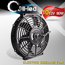 Slim 10inch Electric Radiator Cooling Fan Push Pull 12V 1750CFM Universal 4X4WD