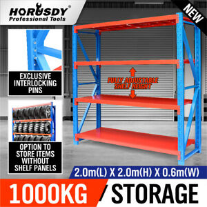 2mx2m Steel Racks Shelves Garage Storage Warehouse Tyre Shelving 1000 Capacity
